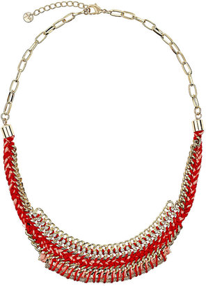 Wallis Red Fabric Necklace
