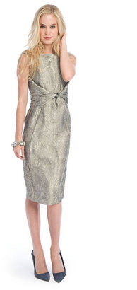 Richard Chai Metallic lace sheath
