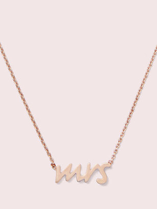 Kate Spade SAY YES mrs. necklace