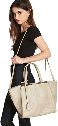Forever 21 FOREVER 21+ Faux Leather Trapeze Tote