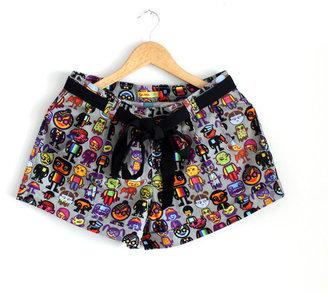 Quirk Box Minion Shorts Women's Gray