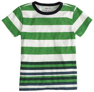 J.Crew Boys' ringer tee in bright green stripe
