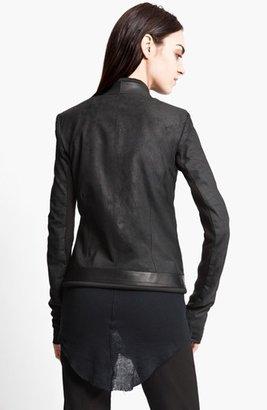 Rick Owens Blistered Lambskin Leather Jacket
