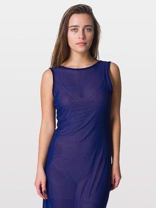 American Apparel Micro-Mesh Long Scoop Back Dress