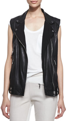 Richard Chai Andrew Marc x Zip Up Vest, Black