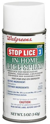 Walgreens Stop Lice In-Home Lice Spray Step 3