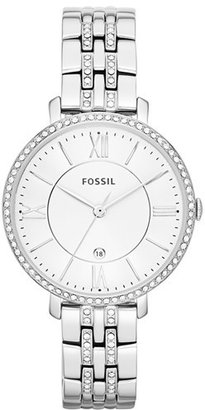 Women's Fossil 'Jacqueline' Crystal Bezel Bracelet Watch, 36Mm $135 thestylecure.com