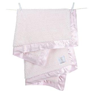 Little Giraffe Luxe Twist Baby Blanket - Pink
