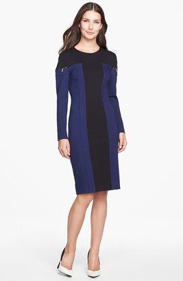 Rachel Roy Colorblock Ponte Knit Dress