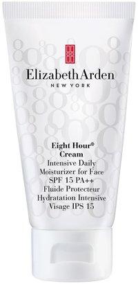 Elizabeth Arden Eight Hour Cream Intensive Daily Moisturiser for Face SPF 15 Sunscreen PA++, 50ml
