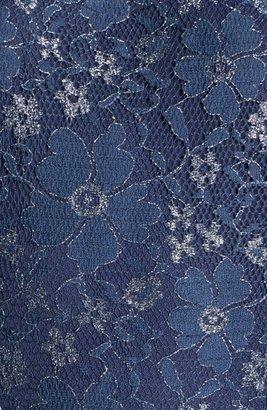 Betsey Johnson Metallic Lace Fit & Flare Dress