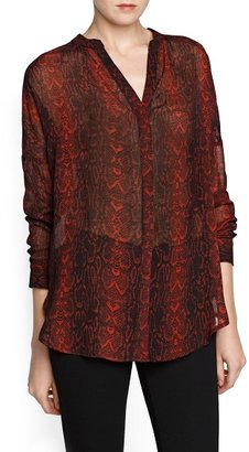 MANGO Snakeskin pattern chiffon blouse