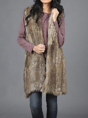 525 America Hooded Fur Vest