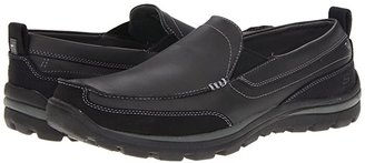 Skechers Relaxed Fit Superior - Gains (Black) Men's Slip on Shoes
