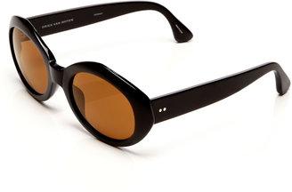 Linda Farrow + Dries Van Noten Oval Acetate Sunglasses