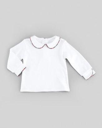 Florence Eiseman Peter Pan Collar Shirt, White, 12-24 Months