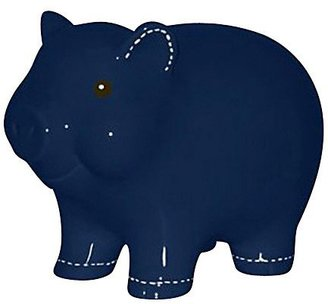 Child to Cherish Stitched Piggy Bank, Navy, Small