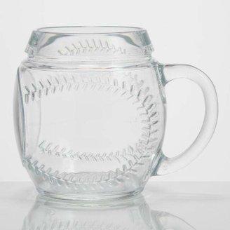 Glass Baseball Mug