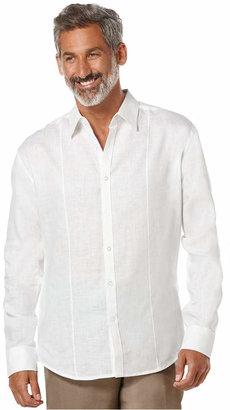 Cubavera Tucked Long-Sleeve 100% Linen Shirt $85 thestylecure.com