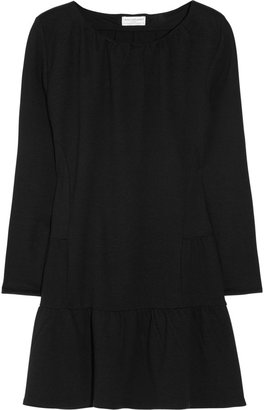 Chinti and Parker Cotton and cashmere-blend mini dress