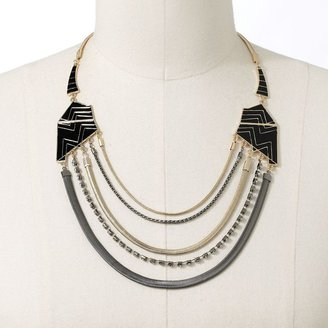 JLO by Jennifer Lopez two tone simulated crystal swag necklace