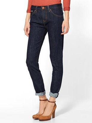 Levi's Cropped Selvedge Boyfriend Jeans