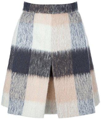 Chloé checked a-line skirt