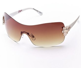 Candie's floral rimless sunglasses