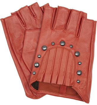 Karl Lagerfeld Arche studded leather gloves