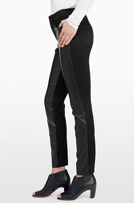 NYDJ Alina Legging With Faux Leather Front