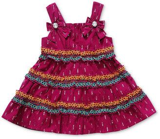 Sweet Heart Rose Girls Dress, Baby Girls Floral Border Sundress