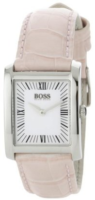 Hugo Boss Women's 1502198 H4012 Silver Dial Pink Leather Strap Watch $162.27 thestylecure.com