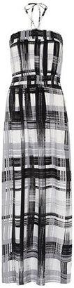 Dorothy Perkins Check bandeau maxi dress