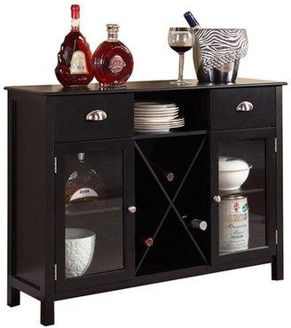 InRoom Designs Carol Buffet with Wine Rack