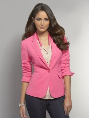 New York & Co. The 7th Avenue City Double Stretch One-Button Jacket