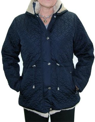 Totes Women's Navy Water-resistant Quilted Insulated Jacket $52.99 thestylecure.com
