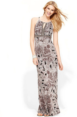 INC International Concepts Petite Dress, Sleeveless Paisley-Print Maxi