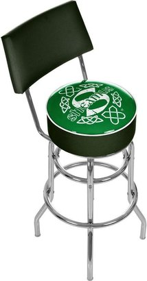 WWE Trademark Sheamus Green Padded Swivel Bar Stool with Back