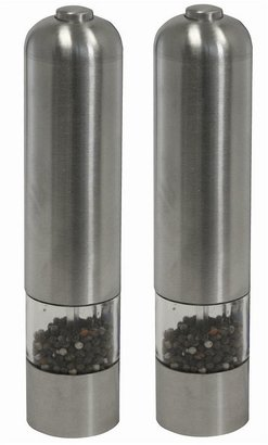iTouchless 2-pk. Electronic Stainless Steel Pepper & Salt Mill/Grinders