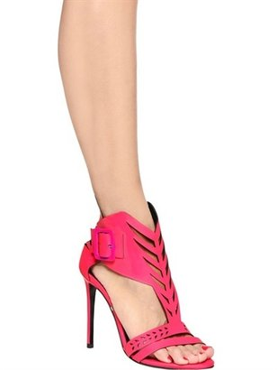 Gianmarco Lorenzi 100mm Laser Cut Soft Leather Sandals