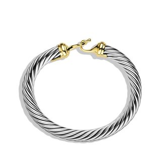 David Yurman Cable Buckle Bracelet with Gold