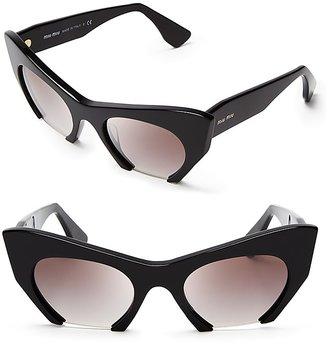 Miu Miu Semi-Rimless Cat Eye Sunglasses