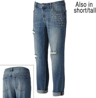 JLO by Jennifer Lopez studded boyfriend jeans - women's