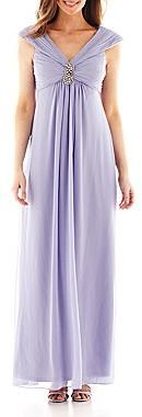 Liliana Trulli Embroidered Empire-Waist Dress