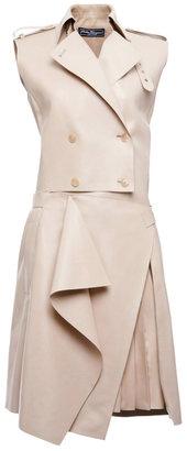 Salvatore Ferragamo Tailored Lambskin Trench Dress