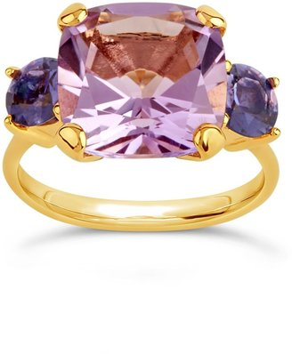 Dinny Hall Gold Teresa Pale Amethyst And Iolite Ring