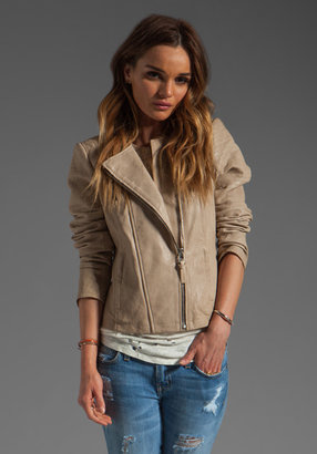 Mackage Brooklyn Distressed Leather Jacket