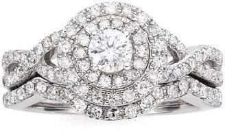 MODERN BRIDE I Said Yes 1 CT. T.W. Diamond & Lab-Created Blue Sapphire Bridal Ring Set