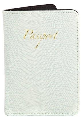 Asos Passport Holder in Mint Snake