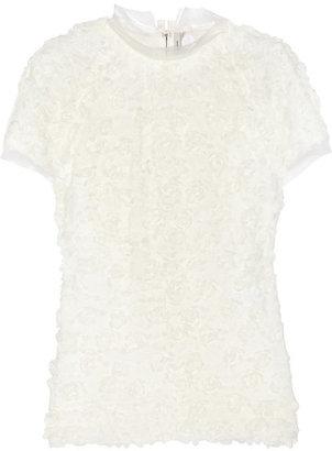 Lanvin Rosette-embellished tulle top